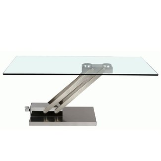 Chintaly Cocktail Table with Adjustable Height in Stainless Steel