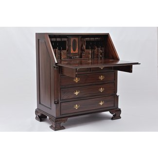 Chippendale Secretary Desk With Hutch - Whitevan