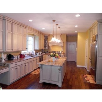 Classic French Country Kitchen - Cabinets by Graber