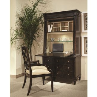 Classic Secretary Desk with Hutch, 202142-1715TP, ART ...