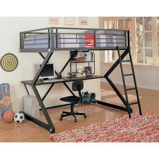 Coaster Furniture Bunks Workstation Full Loft Bed - Matte Black
