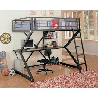 Coaster Furniture Bunks Workstation Full Loft Bed - Matte Black