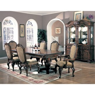 Coaster Saint Charles Dining Table with Double Pedestal in Deep Brown Finish (Table Only)