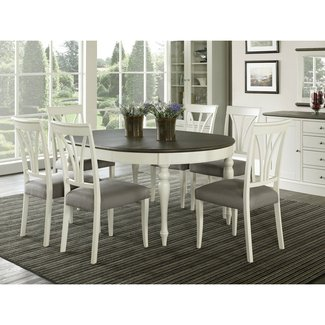 Coastlink Vegas Extension Round to Oval Dining Table Set