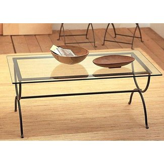 Coffee Table : Black Wrought Iron Coffee Table With Glass