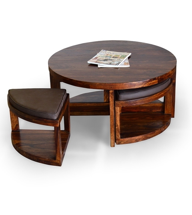 Beau Coffee Table: Coffee Table With Stools Underneath Coffee .