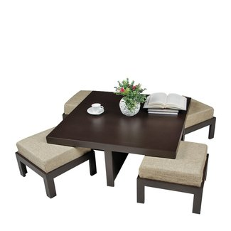 Coffee Table, Cubik Coffee Table With 4 Stools Coffee ...