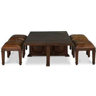 Coffee Table With Nesting Stools Gallery Table
