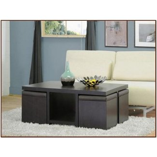 Coffee table with stools for your home - For Coffee