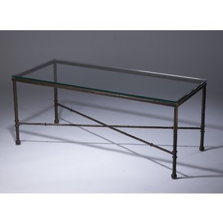 Coffee Table. Wrought Iron And Glass Coffee Table - Home