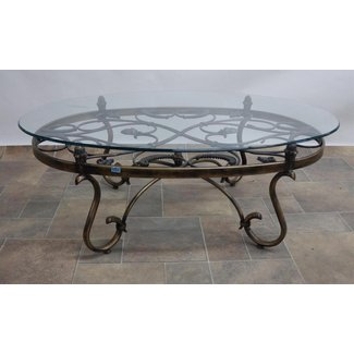 8b274f6fdfd9 Wrought Iron Glass Coffee Table - Home .