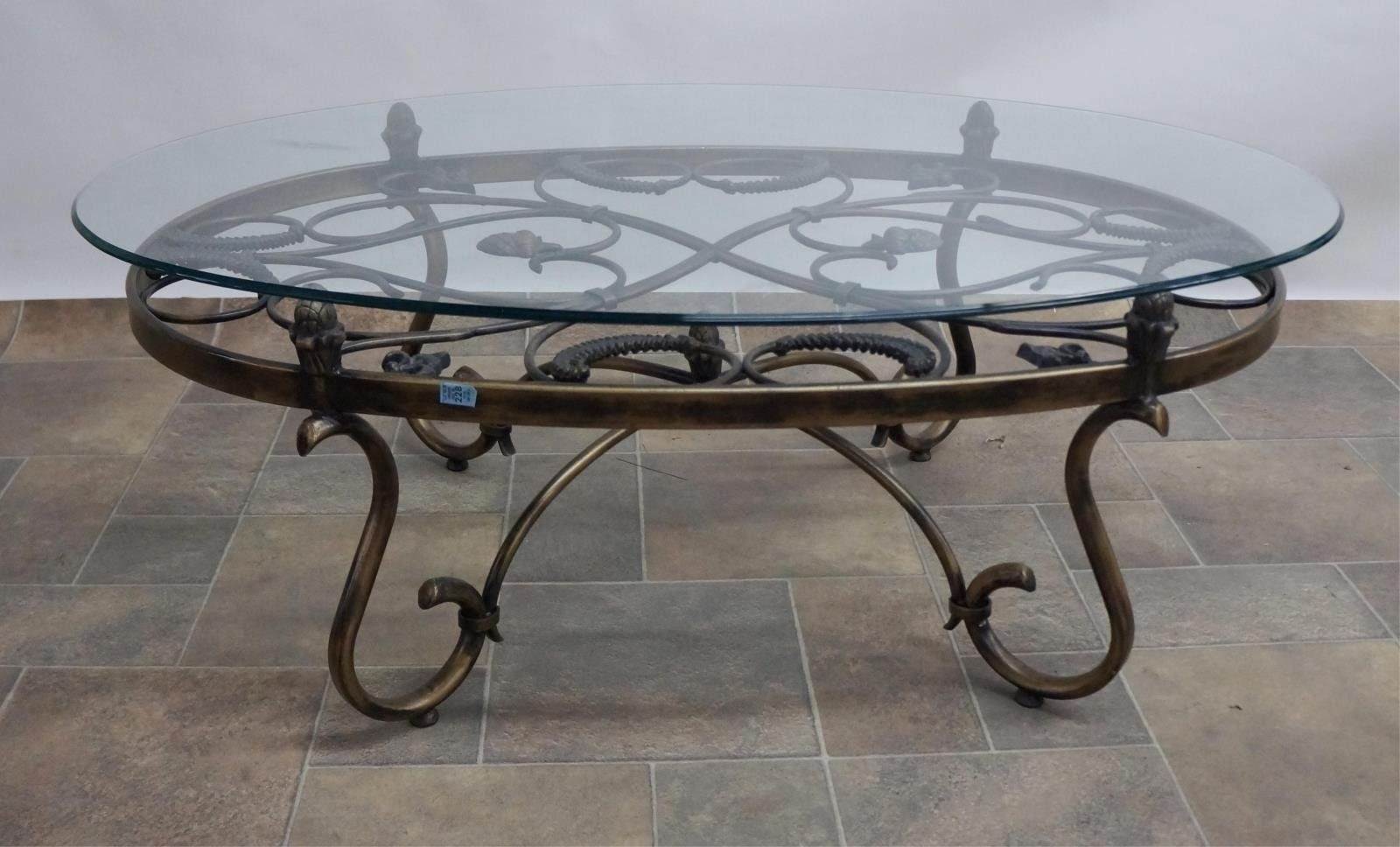 Bon Wrought Iron Glass Coffee Table   Home .