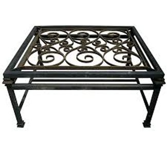 Coffee Tables Ideas: Wrought Iron Coffee Table With Glass ...