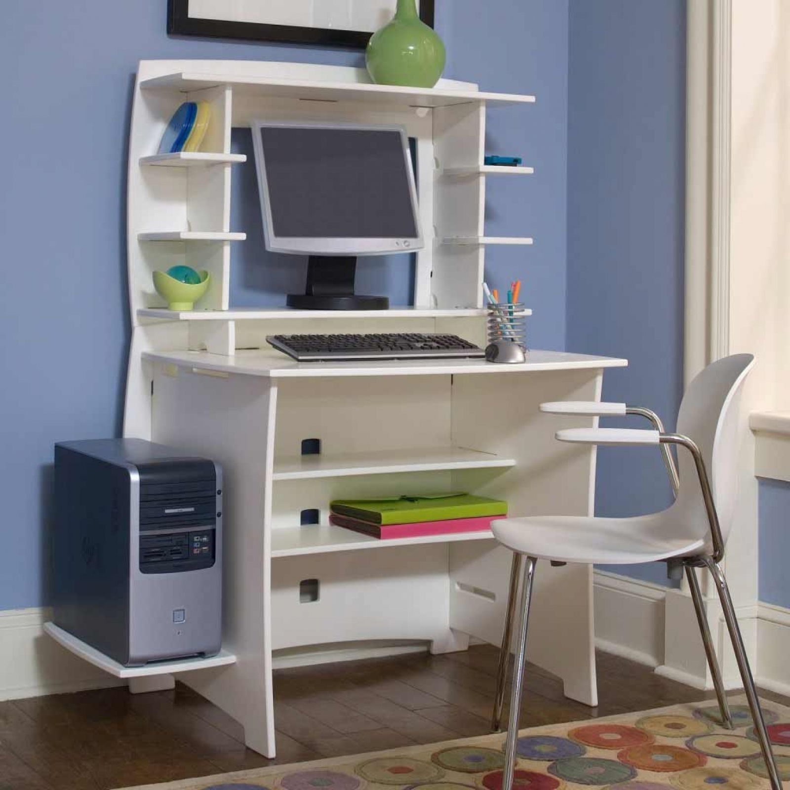 Computer Desk Small Contemporary Topeakmart Modern Computer Desk