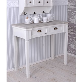 CONSOLE TABLE SHABBY CHIC CONSOLE ANTIQUE STYLE WHITE WALL ...
