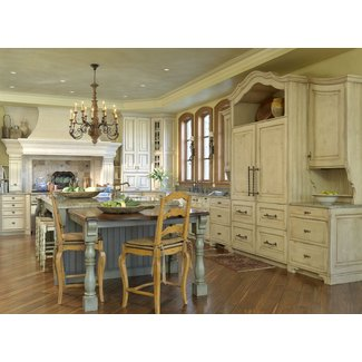 Contemporary French Country Sandstone Kitchen With ...