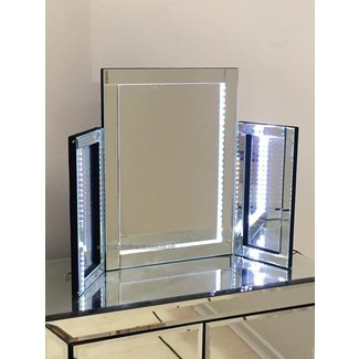 Contemporary Table Mirror With Lights Light Available In A ...