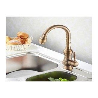 copper faucet, Antique Brass Finish Kitchen Faucets Bronze ...