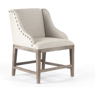 Corneille French Country Limed Oak Linen Dining Chair ...