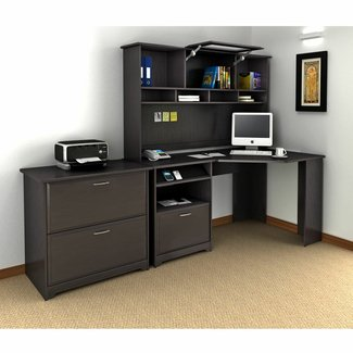 corner computer desk with hutch plans » woodworktips