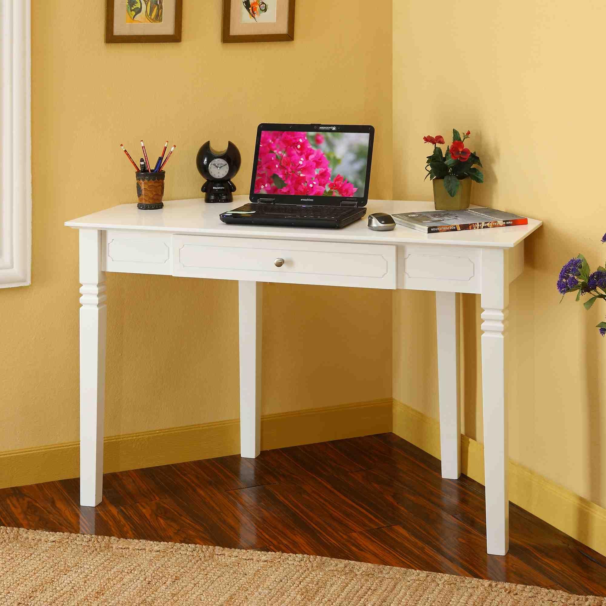 corner desks for small spaces   White Corner Desk with & Small Desks For Bedrooms - Visual Hunt