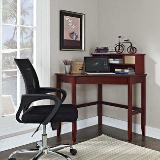 Corner Desks on Hayneedle - Corner Desk with Hutch