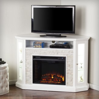 Corner Electric Fireplace Tv Stand | Andrew Bingham