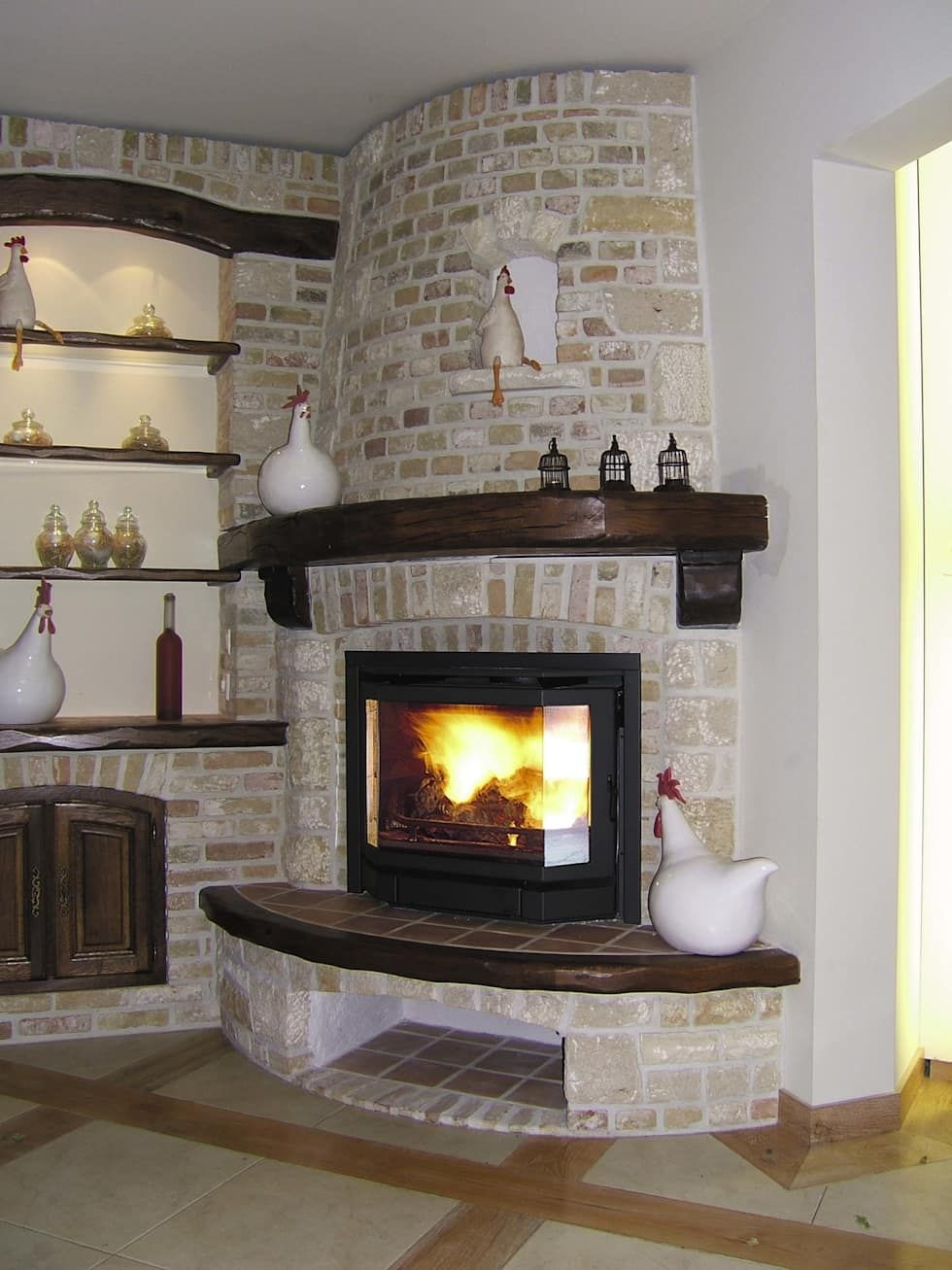 CORNER FIREPLACES: CORNER VENTLESS GAS FIREPLACE INSERTS