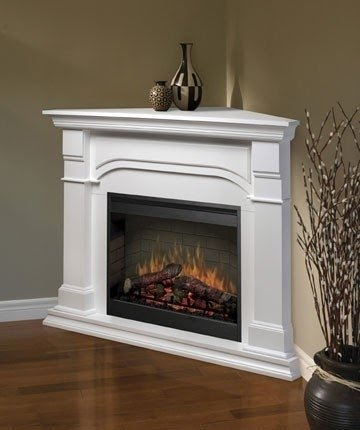 Perfect CORNER FIREPLACES: VENTLESS GAS FIREPLACE CORNER WHITE