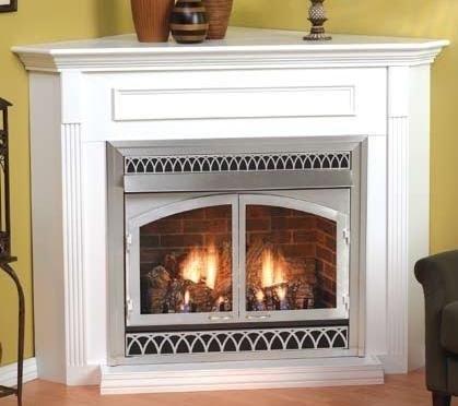 corner ventless gas fireplace visual hunt rh visualhunt com vent free corner gas fireplace packages Vent Free Gas Log Fireplace