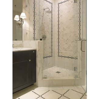 Corner Shower - Transitional - bathroom - SDG Architects