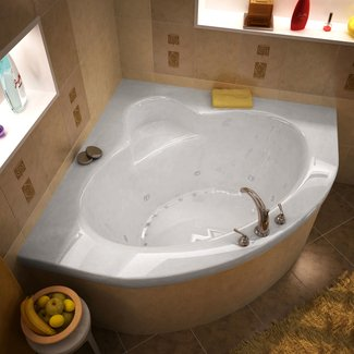 Corner Soaking Tub - Decofurnish