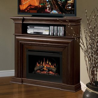 Corner Tv Stand With Fireplace - Decofurnish