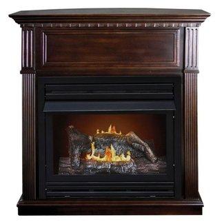 Corner Ventless Gas Fireplace / Gas Technology