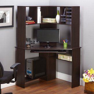 Corner Work Desk With Hutch Office Home Computer ...