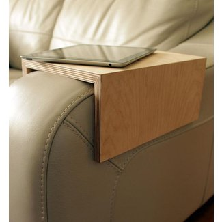 Couch arm tableSofa table sofa shelf couch by ...