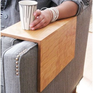 Couch arm wrap, a space saving alternative to coffee ...