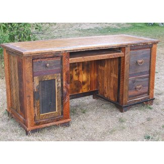 Country Roads Reclaimed Wood Computer Desk by Idaho Wood Shop