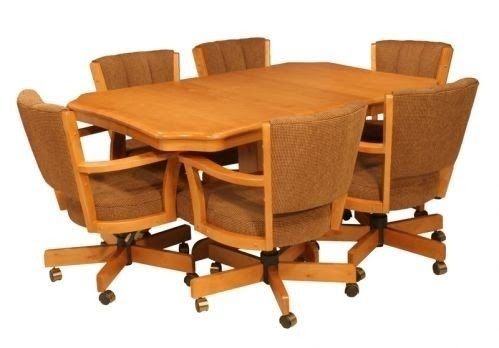 dinette sets with caster chairs visual hunt rh visualhunt com