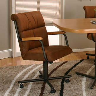 Cramco, Inc Landon Dining Arm Chair With Casters - Darvin