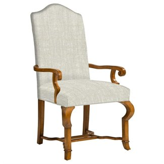 Crawley French Country Camel Back Dining Arm Chair | Kathy