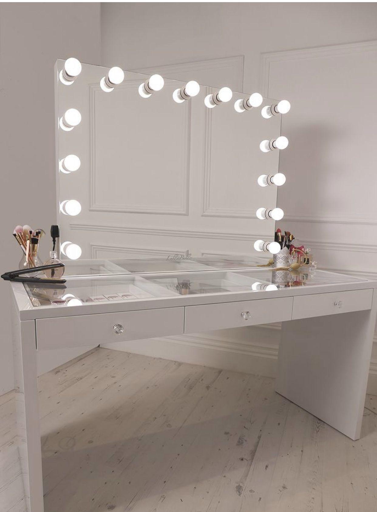 Crisp White Finish Slaystation Make Up Vanity With Premium .