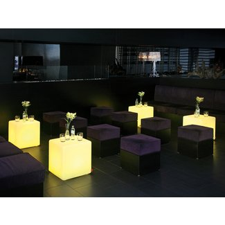 Cube LED Battery Operated Table Lamps for Indoor Use -