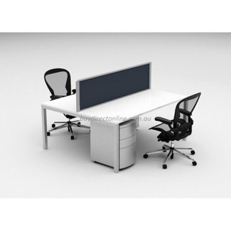 Cubit Raceway Workstations - 2 Person Desk Pod For Sale