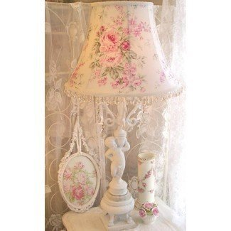 CUSTOM FLOOR or Large Table LAMP SHADE shabby Pink Roses