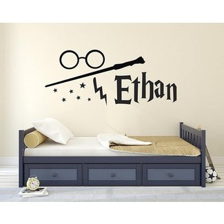 Custom Harry Potter Name Wall Decal - Harry Potter Wall Decals - Personalized Name Wand Vinyl Sticker