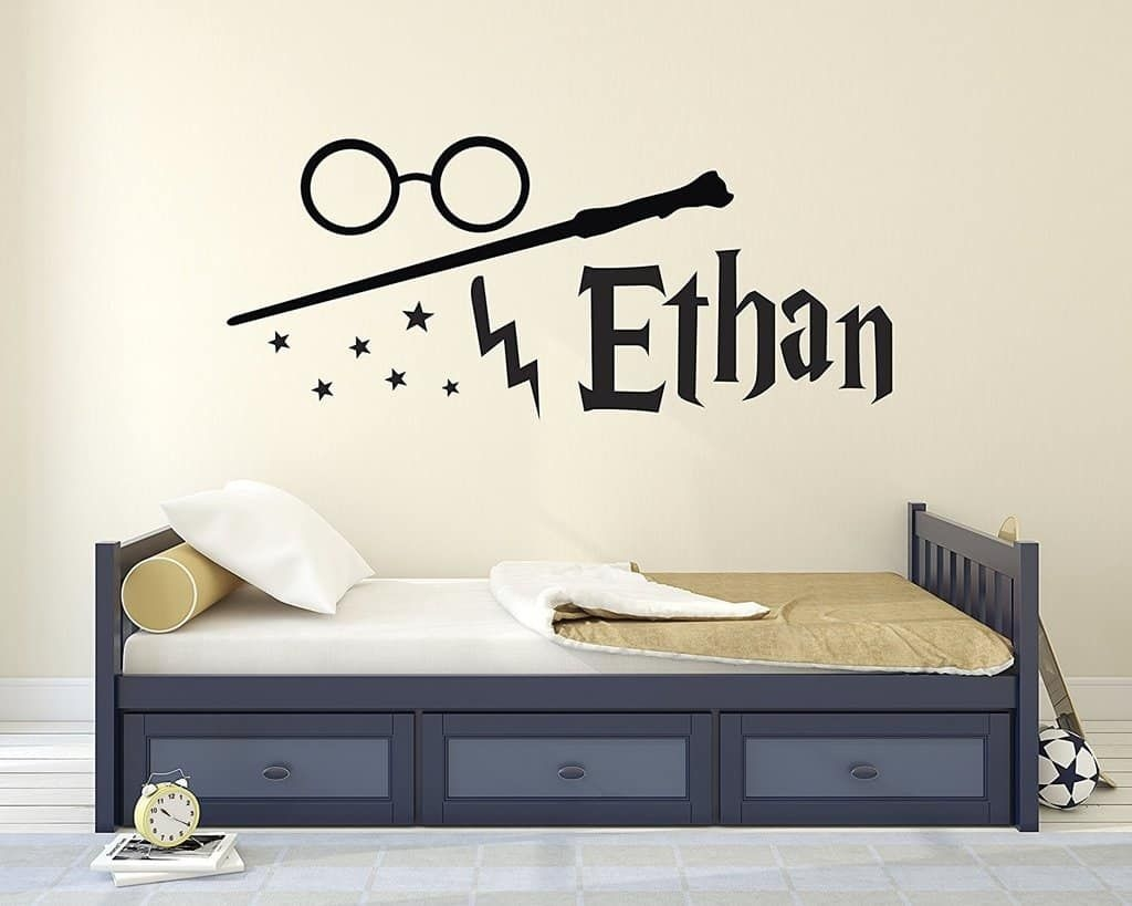 Custom Harry Potter Name Wall Decal - Harry Potter Wall Decals - Personalized Name Wand Vinyl  sc 1 st  Visual Hunt & Harry Potter Room Decor - Visual Hunt