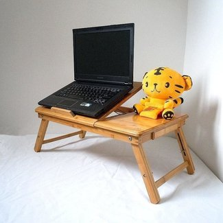 Customized Adjustable Bamboo Computer Laptop desk E table ...