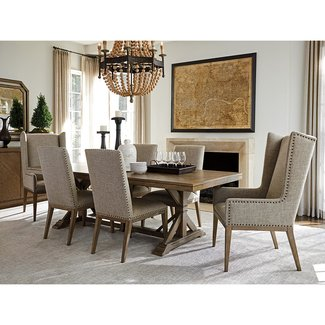 Cypress Point Pierpoint Double Pedestal Dining Table ...
