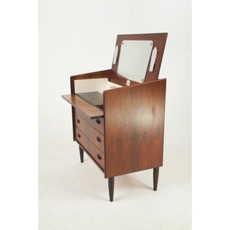 Danish Rosewood Dressing Table with Mirror & Lights, 1960s ...